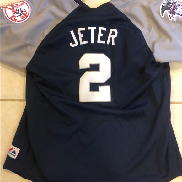 finest selection ab93a c4e5f Yankees jeter sewn jersey youth or women's large